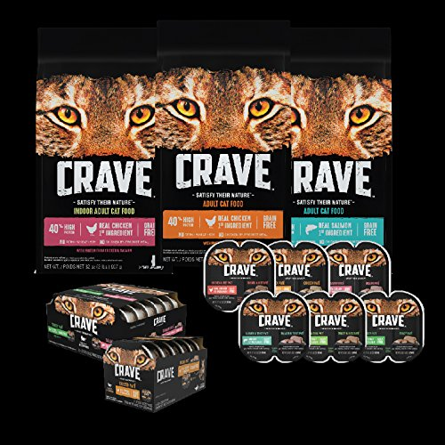 Crave Grain Free With Protein From Salmon & Ocean Fish Dry Adult Cat Food, 2 Pound Bag