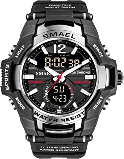 Men's Sports Watch, Fashion Military Dual-Display Simple Digital Watch with Waterproof Function
