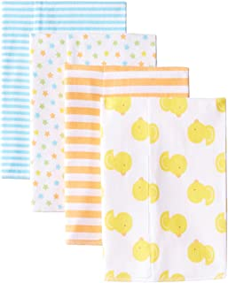 Baby 4 Pack Flannel Burp Cloth