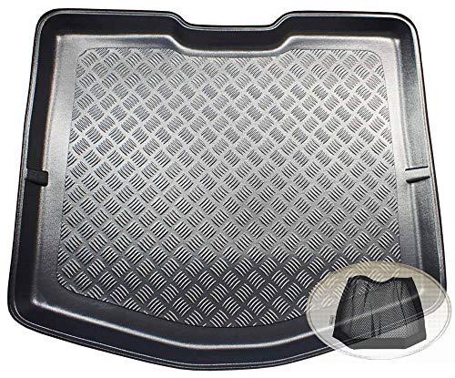 ZentimeX Z3333013 Geriffelte Kofferraumwanne fahrzeugspezifisch + Klett-Organizer (Laderaumwanne, Kofferraummatte)