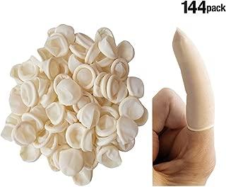 Finger Cots Powder Free Rubber Fingertips, Protective Finger Gloves Art Finger Cots, Latex, Pack of 144 (Large)