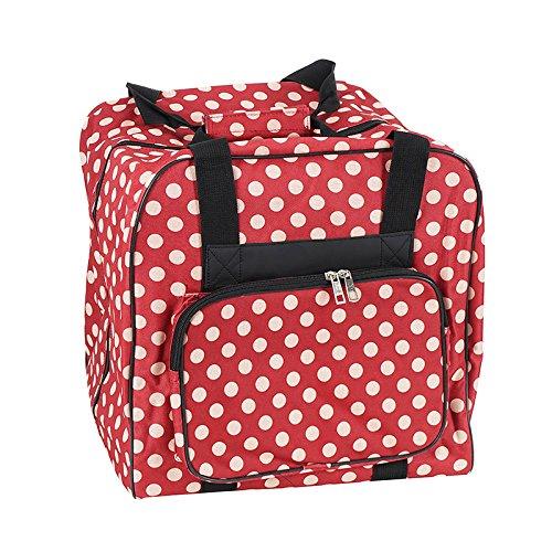 Unbekannt Over-Coverlock Tasche (rot/Creme gepunktet)