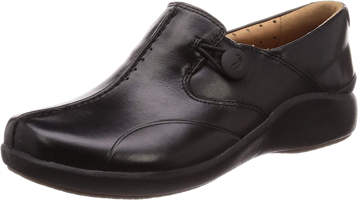 Clarks Women's Un.loop2 Walk Dealing full price reduction Financial sales sale Loafers Leather Black