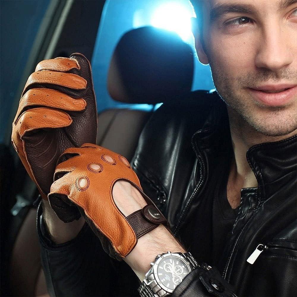 UimimiU Mens Fashion Genuine Leather Summer Spring Time sale Deersk Gloves Max 75% OFF