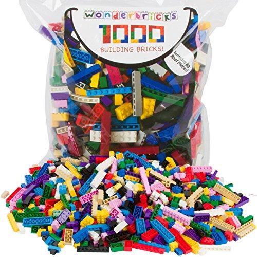 Building Bricks - 1,000 Pieces - Compatible with Legos