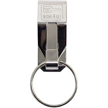 Liangery Belt Key Holder Leather Belt Loop Keychain Car Key Chain Ring Belt Hook for Men LG-AM0151