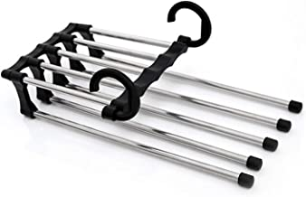 clothes airer Wall Hanger Multi-Layer Pants Rack Clothes Pants Trouser Hanger Storage Rack Closet Wardrobe Organizer Space...