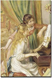 Living Room Pictures for Wall Art Two Young Girls at the Piano 1892 Pierre-auguste Renoir Giclee Canvas Art Print Gallery ...