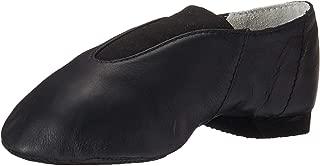 Bloch Dance Girl's Super Jazz Leather and Elastic Slip On Jazz Shoe