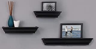 kieragrace Traditional floating-shelves, Set of 3, Black