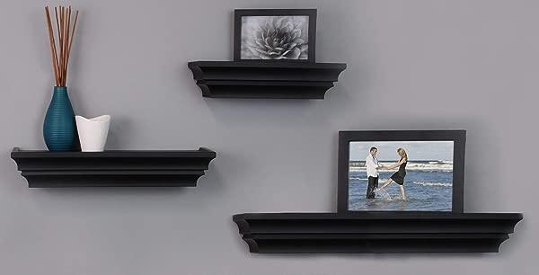Kieragrace Madison Contoured Wall Ledges 12 16 24 Black Set Of 3