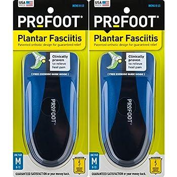 ProFoot Orthotic Insoles for Plantar Fasciitis & Heel Pain Men s 8-13 2 Pair
