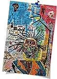 Wall Art Painting Jean Michel Basquiat Posters Canvas Prints Art Graffiti Ornament Urban Art Modern Street Artist Canvas Paintings Home Decor (16 x 24 inch Unframed,multi)