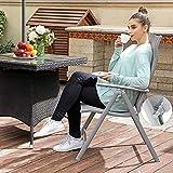 SONGMICS Gartenstuhl Klappstuhl Outdoor-Stuhl mit robustem Aluminiumgestell - 2