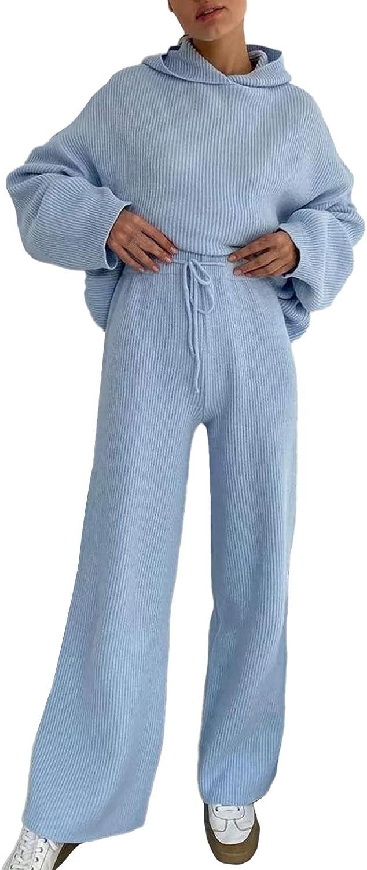 LaSuiveur Women's 2 Piece Athletic Clothing Sets Outfits Drawstring Sweatpant Tracksuits Loungewear