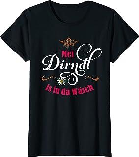 T-Shirts Mei Dirndl Mei Dirndl is in da Wäsch lustige Sprüche Damen Oktoberfest T-Shirt