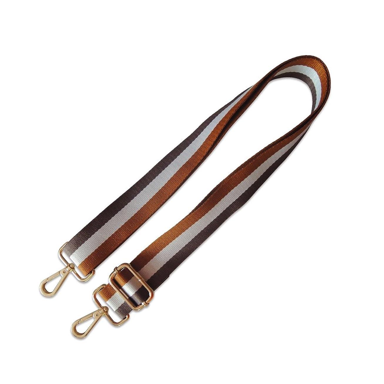 コンドーム設計図欠伸Meseey ファション ショルダーベルト ショルダーストラップ バッグベルト バッグ小物 ストライプ 長さ調節可能 交換用単品