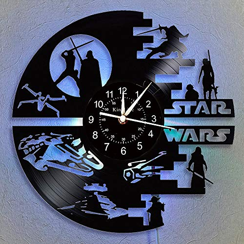Cheemy Joint Star Wars Vinyl-Wanduhr LED 12
