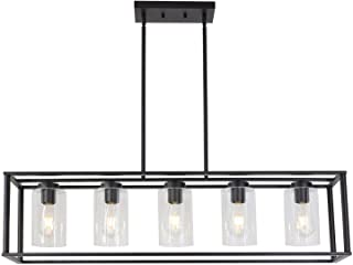 MKING Contemporary Chandeliers Black 5 Light Modern...
