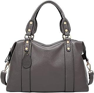 Boston Handbags For Womens Leather Bags Cross Body Tote Top Handle Shoulder Duffle Bag Satchel Zipper Office OL