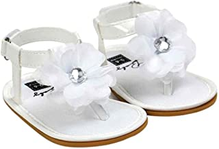 Baby Infant Girls Flower Pearl Princess Sandals Soft Sole First Walker Crib Shoes