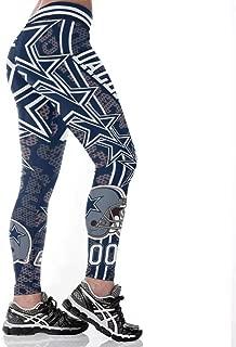 Littlearth Football Team Logo Leggings for Women Yoga Pants Soft Leggings High Waisted Leggings Running Slimming Workout Leggings Plus Size