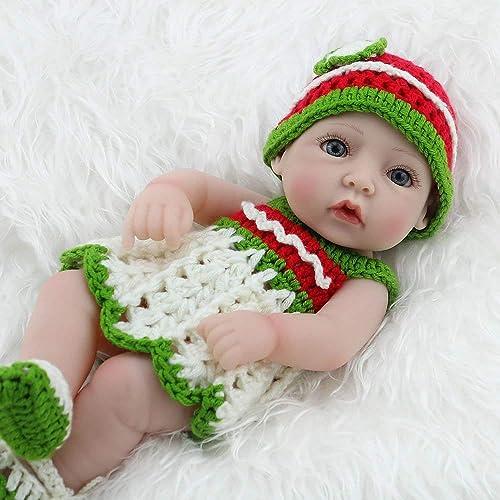 HSDDA Babypuppe Reborn Babypuppe aus Silikon, 28 cm
