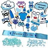 Decoracion Fiesta de Bienvenida de Bebe (Azul)
