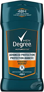 Degree Men Advanced Protection Antiperspirant Deodorant Stick for Sweat Control Adventure 48h Odour Protection 76 g