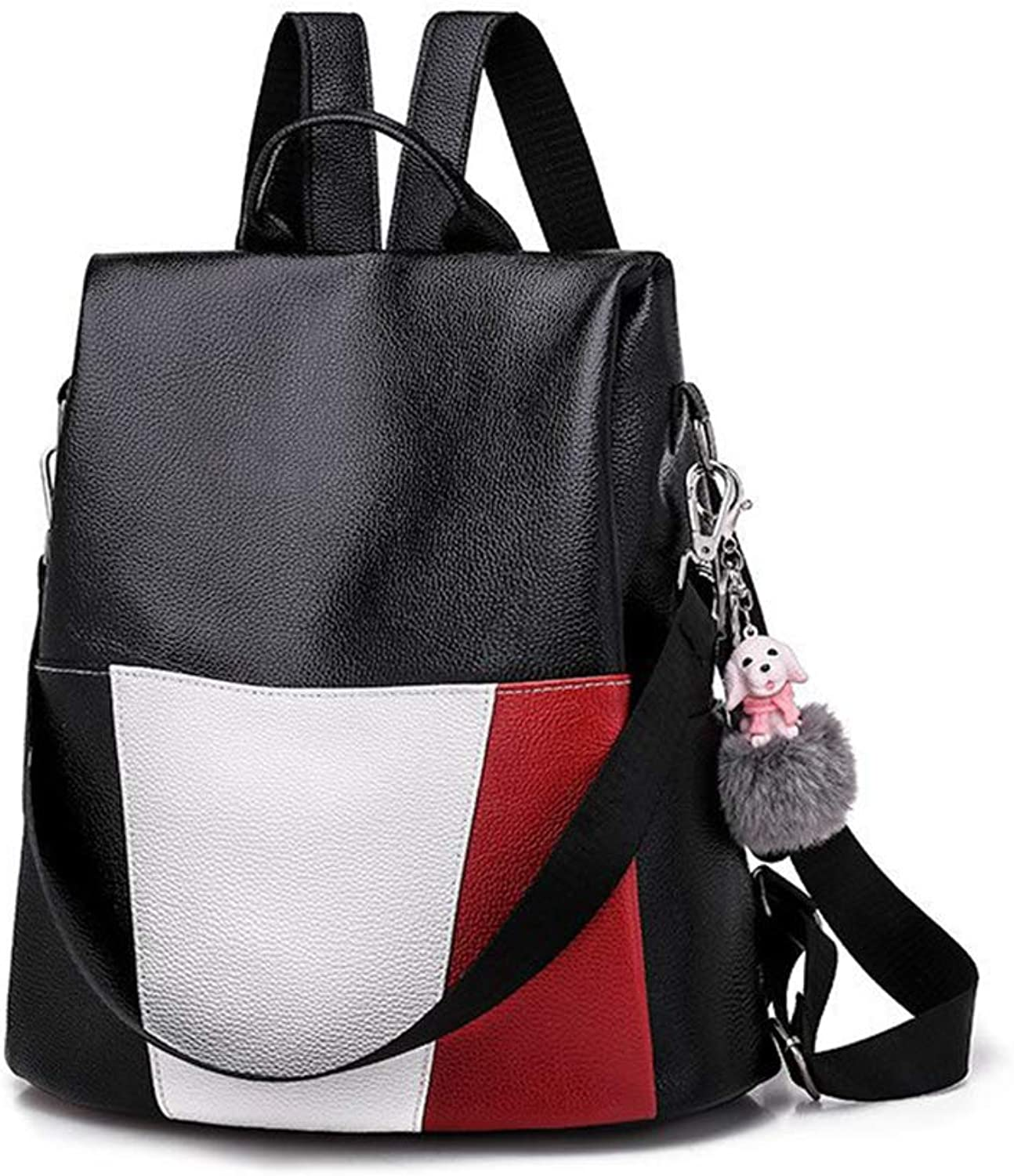 Soft Leather Backpack School College Travel Anti Theft Waterproof Outdoor Handy Fashion Leisure Girls Women Bag