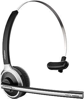 MPOW M5 Auriculares Bluetooth V5.0, Micrófono que se gira para silenciar, Auriculares Inalámbricos con Cancelación de Ruid...