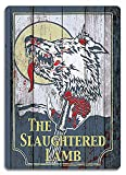 Kevin Porter Tin Sign New Metal Sign Funny Slaughtered Lamb Replica American 11.8' X 7.8'