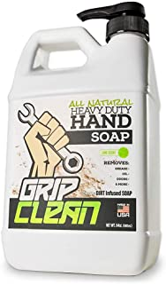 Grip Clean | Hand Cleaner for Auto Mechanics - Heavy Duty Pumice Soap, All Natural & Dirt Infused for Dry Hands