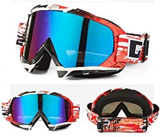 LAOHAO Multi-Lens Sunglasses Snowmobiles Skiing Snowboarding Cross-Country Motorcycle Helmet Visor Glasses Windproof Cross-Country Waterproof Glasses (Color : H)