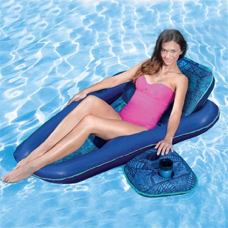 XHCP Aufblasbares Wassersofa Schwimmende Reihe Aufblasbares Kissen Sommer Tragbares Schwimmbecken Strand Schwimmbecken Dekoration Erwachsene Kinder Paar