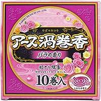 アース渦巻香 蚊とり線香 バラの香り 10巻入×8個セット