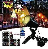 LED Projektionslampe Von Colleer mit 15 Wechselbaren Musters, Led Projektor IP65 für...