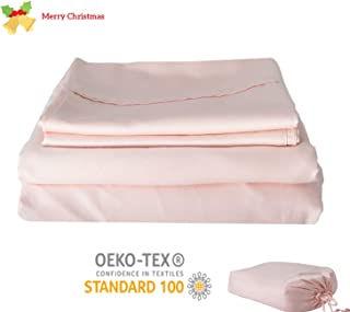 Hyaline Home 100% Natural Viscose Bamboo Sheets Queen-Silky Soft, Breathable, Cooling, Organic Sheet Set- Fitted and Flat Sheet Deep Pocket 16