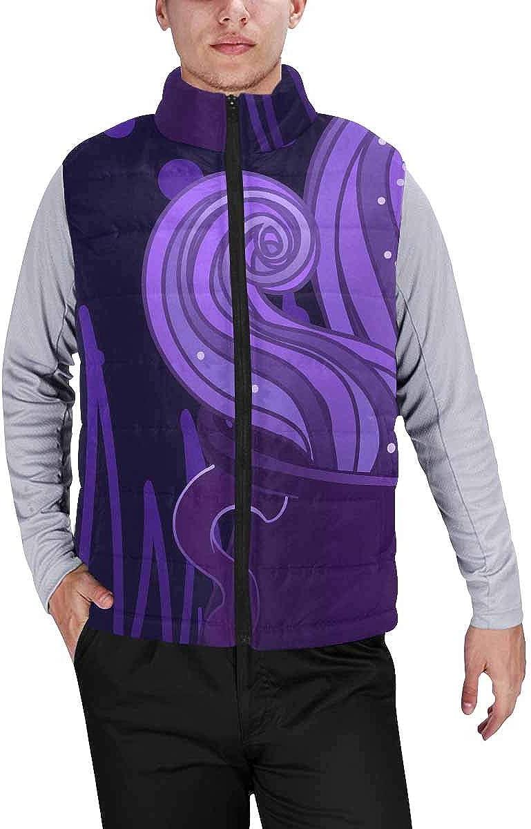 InterestPrint Men's Full-Zip Soft Warm Winter Outwear Vest Halloween S