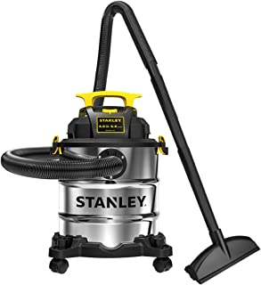 Stanley 6 Gallon Wet Dry Vacuum, 4 Peak HP Stainless Steel 3 in 1 Shop Vac Blower with Powerful Suction, Multifunctional S...