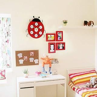 Pared de Marco de Fotos Combinación Creativa Pared de Fotos Dormitorio para niños Pared de Marco de Madera Maciza Personal...