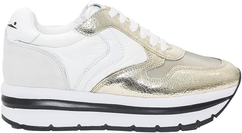 Voile vithe läder och Fabric skor May