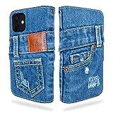 UK Trident デニム iPhone12 ケース / iPhone12 pro ケース 手帳型(アイフォン12 ケース / アイフォン12プロ ケース)カード収納 おしゃれ iPhone 12 / iPhone 12 Pro ケース(6.1インチ)