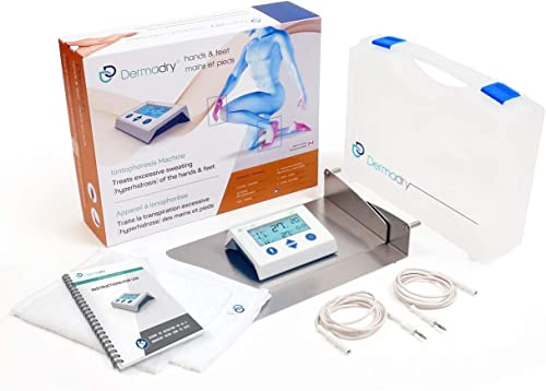 Dermadry Hands & Feet - Iontophoresis Machine to Treat Hyperhidrosis for Home Use – Excessive Sweating Treatment – Co...