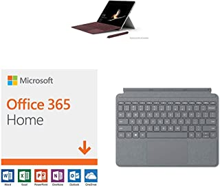 New Microsoft Surface Go (Intel Pentium Gold,4GB RAM/ 128GB) with Microsoft Office 365 Home | 12-month subscription with Auto-renewal, up to 6 people, PC/Mac Download & Surface Go Type Cover (Platinum)