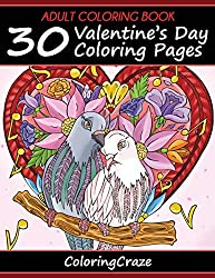 30 valentines to color