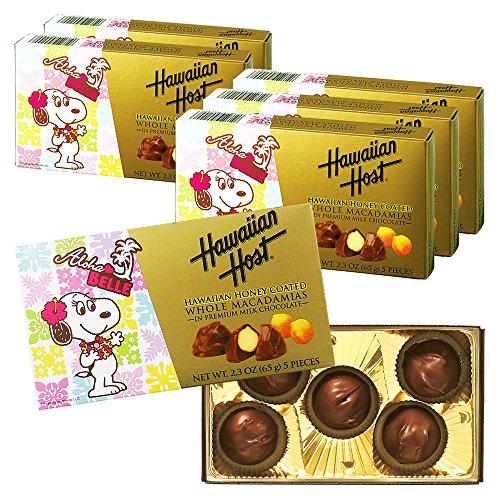 ハワイアンホースト(Hawaiian Host) スヌーピーフレンズ ハニー マカデミアナッツチョコレート 6箱セット【ハワイ おみやげ(お土産) 輸入食品 スイーツ】