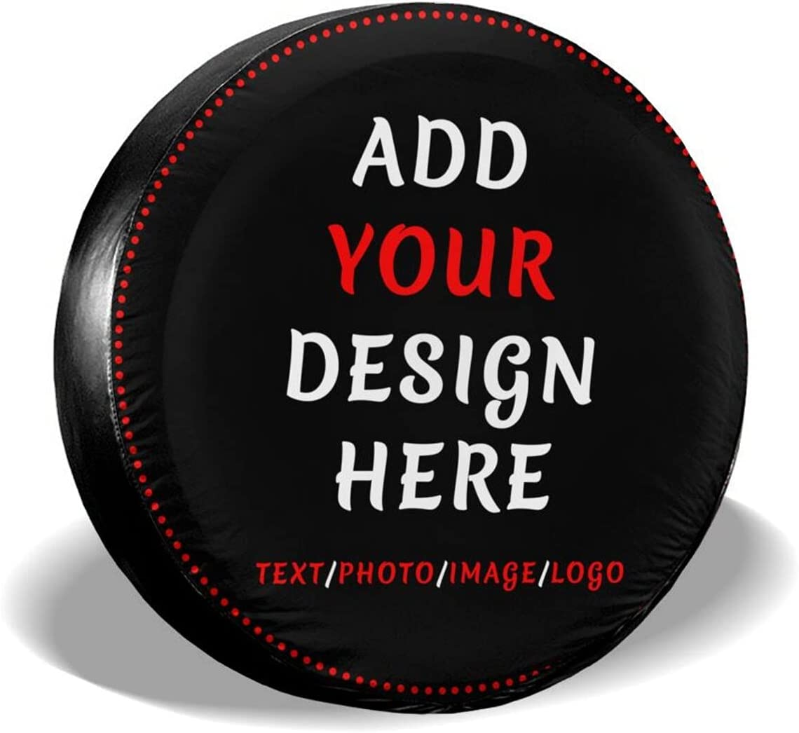 Rare Custom Spare Special sale item Tire Covers Personalized Design Your Text Own Image