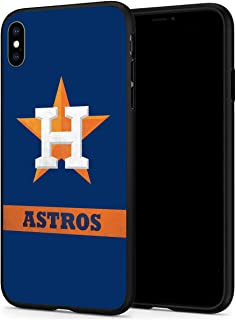 Tesuo Baseball Phone Case for iPhone XR Slim Fit Shock TPU Anti-Scratch Hard Backplate Back Protective Cover for iPhone XR - Black