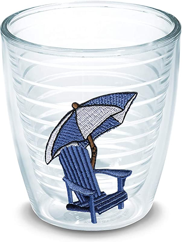 Tervis 1000103 Adirondack Chair Blue Tumbler With Emblem 12oz Clear